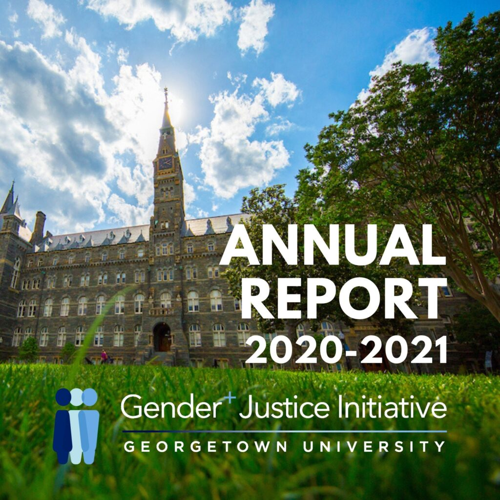 Annual Report Cover - Georgetown Main Campus in background, GJI logo bottom