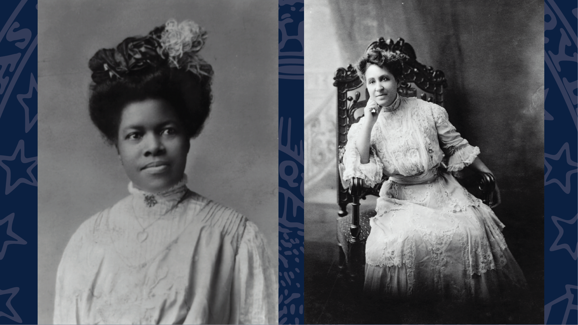 On left Nannie Helen Burroughs, on right Mary Church Terrell. Library of Congress Prints & Photographs Division